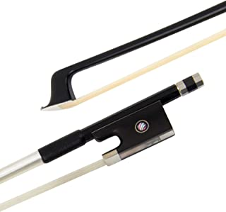 Kmise Carbon Fiber Violin Bow Stunning Bow for Violin Parts Replacement Black 1 Pcs (4/4, Black)