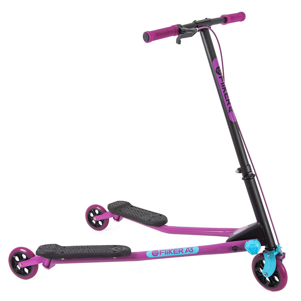 Yvolution Fliker Drifting Scooter Purple