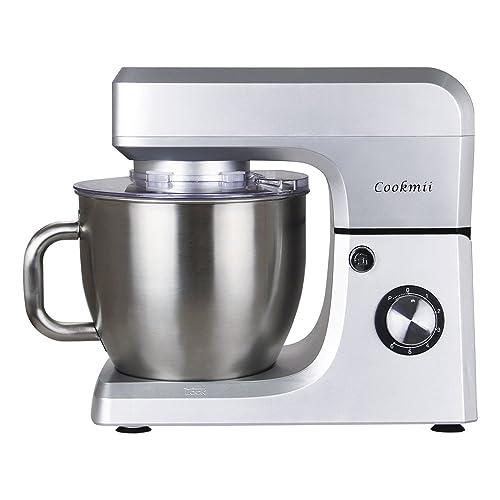 Cookmii 1800W Batidora Amasadora Repostería Profesional Robot de Cocina AutomáticaMultifuncional Amasadoras de pan Capacidad de 6