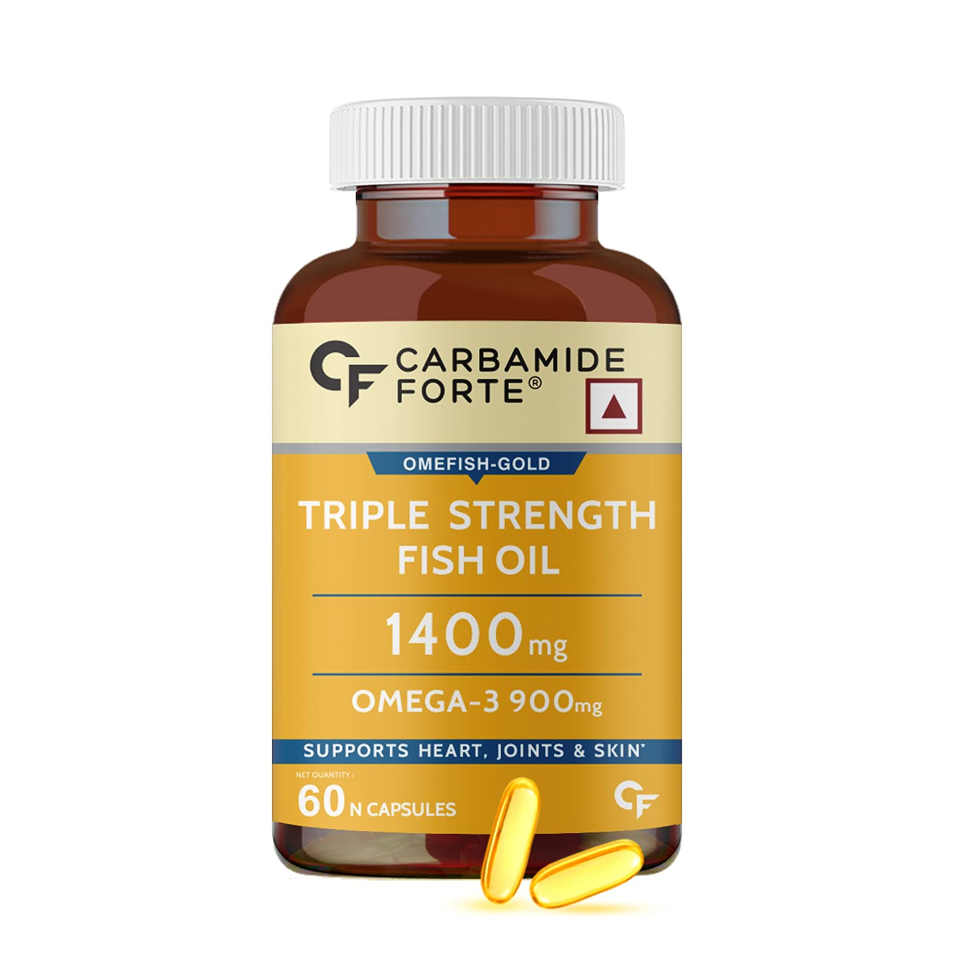 Carbamide Forte Triple Strength is the best fish oil capsules in India