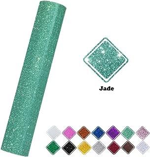 Glitter Heat Transfer Vinyl Roll Jade Color 9.8