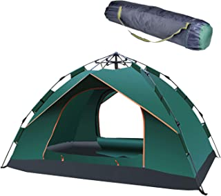 ZENITHIKE Tent for 3-4 Person Collapsible Double Layer Family Camping Tent with Convenient Carry Bag Features