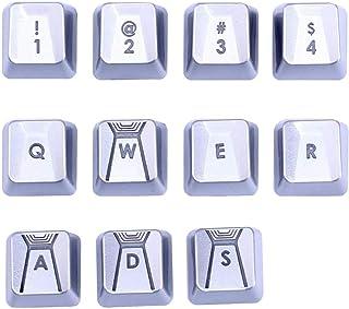 مناسبة لـ Romer-G Switch Logitech G310 G413 G613 G810 K840 G910 لوحة مفاتيح ميكانيكية الأداء (فضية 11 مفتاح)