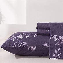 ملاءات سرير من MEISHANG برسومات زهور أرجوانية فائقة النعومة 100% من الألياف الدقيقة - جيب عميق + ملاءة مسطحة + أغطية وسائد...