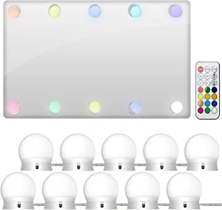 LEDGLE Hollywood Luces LED de Espejo Tocador Maquillaje Led Kit Usb Cable 10 Bombillas Dimmable 3 Modos De Color y 10 De...
