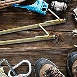4 x XXL Bodenanker, Erdanker für harte Böden, 51cm, Zeltzubehör, zum Einschlagen, Stahl galvanisiert, Felsnagel, gelb - 3