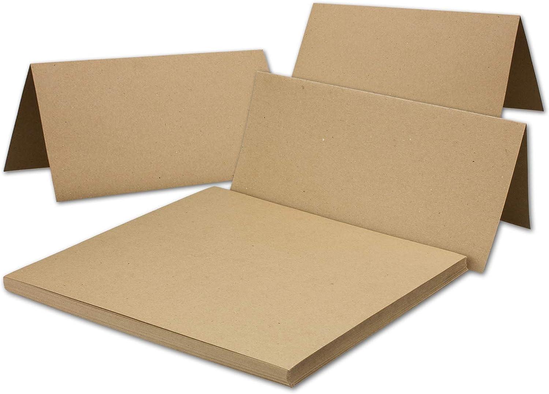 100x Vintage Kraftpapier Falt-Karten Din Lang - - - 100 x 210 mm - sandbraun - Recycling - 240 g m² Blanko Klapp-Karten I Umwelt by Gustav NEUSER B06WGV7Z4Q   Beliebte Empfehlung  7bf345