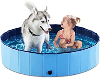 Jasonwell Foldable Dog Pet Bath Pool,Collapsible Dog Pet Pool Bathing Tub for Dogs or Cats(120cm.D x 30cm.H)