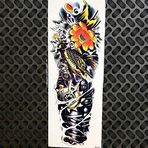 HXMAN 3 stuks 25 design roos schedel grote bloem arm tijdelijke tattoo mannen armband waterdicht Efake Black tattoo vrouwen schoudermouwen GQB027.