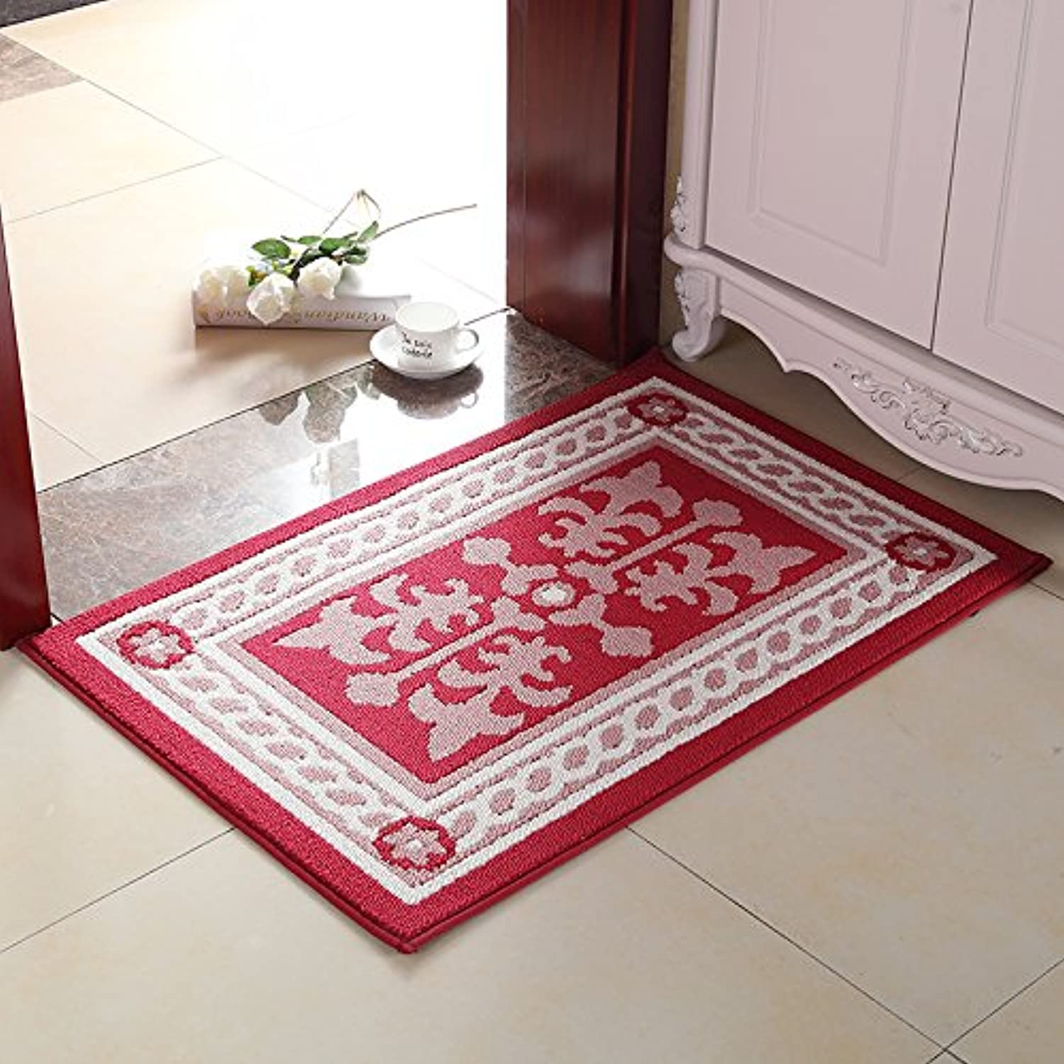 JinYiDian'Shop-Continental Mats Door Mat The Carpet Of The Bedrooms Kitchen Suction Feet ,6090Cm,7554