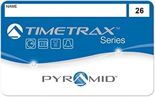 Pyramid 41303 employee swipe cards numbered 26-50 for TimeTrax TTEZ, TTEZEK, PSDLAUBKK, TTPRO, TTMOBILE, FASTTIME 8000, FASTIME 9000 Time Clock Systems. Requires 25-Employee Upgrade Software Package if purchased for TTEZ Time Clock System. 25/pk