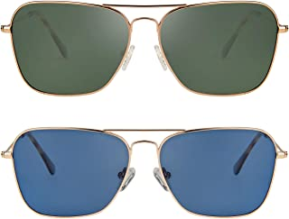 Stylle Polarized Aviator Sunglasses for Men and Women, UV Blocking Unisex Shades Sun Glasses with Carrying Pouch
