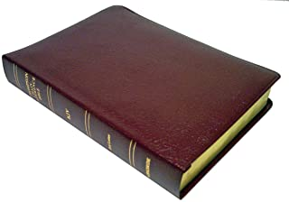 KJV - Burgundy Bonded Leather - Large Print - Indexed - Thompson Chain Reference Bible (025193)