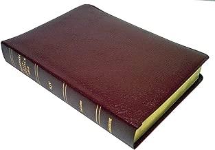 KJV - Burgundy Bonded Leather - Large Print - Thompson Chain Reference Bible (015193)