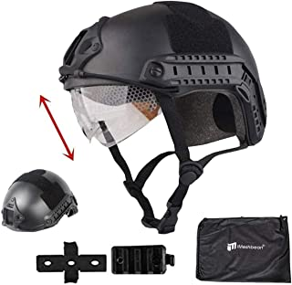 iMeshbean Airsoft Swat Helmet Combat Fast Helmet with Wing-Loc Adapter,and a Helmet Bag as a Gift