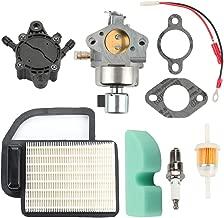 Mckin 20 853 33-S Carburetor with 20 083 02-S Air Filter 24 393 16-S Fuel Pump for Kohler Courage SV470 SV480 SV530 SV540 SV541 SV590 SV591 SV600 SV601 SV610 SV620 CV491 CV490 CV492 Engine