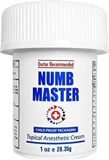 Best Numb Master 5% Lidocaine Topical Numbing Cream, Maximum Strength Long-Lasting Pain Relief Cream, Fast Acting Topical Anesthetic Cream with Aloe Vera, Vitamin E, Lecithin with Child Resistant Cap, 1oz Review