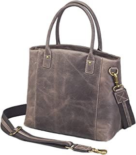 Concealed Carry Purse - Distressed Buffalo Leather Town Tote by Gun Tote'n Mamas