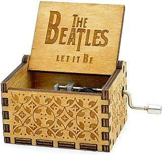 Caja de música de madera tallada antigua:los Beatles