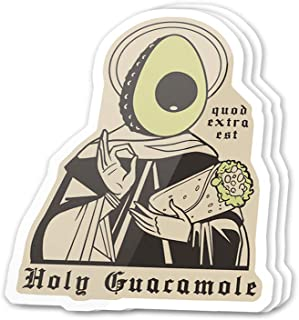 Kachi Art Cool Sticker (3 pcs/Pack,3x4 inch) Holy Guacamole Avocado Mexican Food Taco Stickers for Water Bottles,Laptop,Phone,Teachers,Hydro Flasks,Car