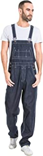 Wash Clothing Company Mens Loose Fit Denim Dungarees - Dark Blue Value Bib Overalls MADDOXDARKBLUE