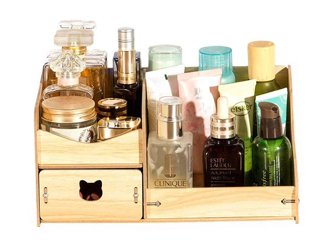 ファックス香水調べるSnifu メイクボックス 化粧道具 収納 コスメケース 小物入れ 雑貨 収納ボックス 机上置棚 組み立て式 大容量 片付け便利