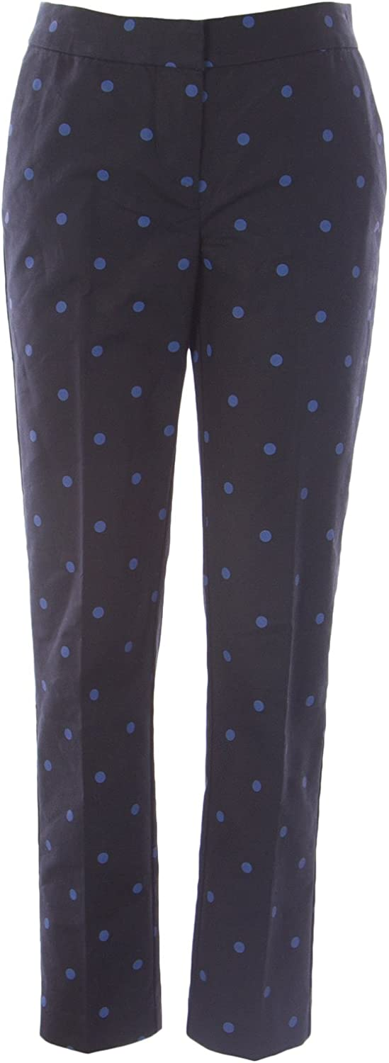 BODEN Women's Polka Dot Bistro Pants Black bluee US 6L