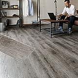 フロアタイル 貼るだけ フローリングタイル [12枚セット/No.1ウェザードパイン] 約1畳用分 木目調 接着剤付き DIY 床材 簡単 フロアーマット