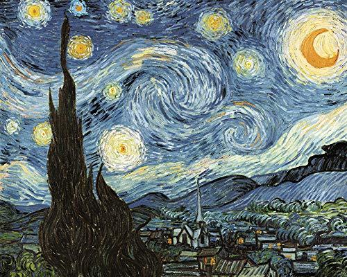 Noche Estrellada Abstracta de Van Gogh - Madera Puzzle 1500 Piezas Adultos Ocio DIY Toys Decoracion