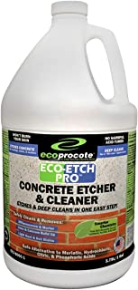Eco-Etch Pro Concrete Etcher & Cleaner, Efflorescence Remover, Organic Concrete Acid, Phosphoric Acid, Muriatic Acid Alternative