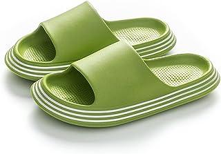 EVA slippers vrouwen zomer bovenkleding dikke zolen huishouden superzachte sandalen en slippers,Green,39~40