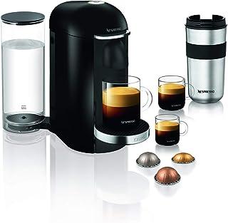 Krups Nespresso Vertuo Plus - Cafetera de cápsulas Depósito de agua de 1,7 L. negro/acero