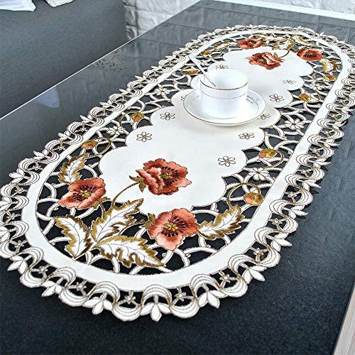 Tischdecke Tischläufer Stickerei Mitteldecke Deckchen Wunsch model 40x90cm