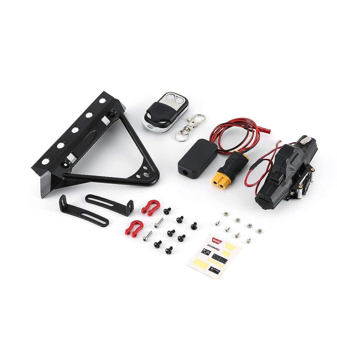 ベンチャー軽食視聴者フロントバー+コントローラー+クライミングカー用ツインウインチ90046 D90 SCX10 TRX-4シミュレーションメタルツインモーターウインチパーツ
