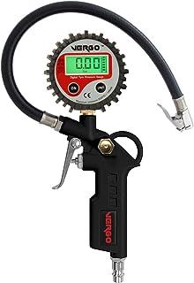 VERGO Digitales Reifenfüllgerät   Heavy Duty   2,5 Zoll Durchmesser Kopf   3 in 1 Multifunktionsmessgerät   0 14 Bar/ 0 200 PSI