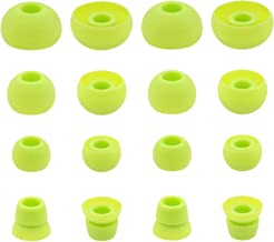 Replacement Ear Tips for Powerbeats 3 Headphone, Rayker Soft Silicone Earbud Tips, 8 Pair S/M/L Double Flange Size Included, PB3 (Green)