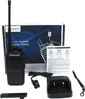Vineyuan C5 Plus Walkie Talkie 5W UHF 400-470MHz Radios Portátiles Bidireccionales de Largo Alcance con Auriculares