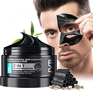 Peel Off Face Mask, JVR Blackhead Remover Mask for Men, Charcoal Peel Off Black Mask, Facial Mask Purifying and Deep Clean...