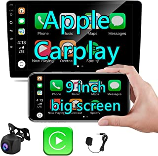 $116 » Apple Carplay Double Din Car Stereo, Rimoody 9 Inch Android Auto Touchscreen car Radio with Bluetooth FM Mirror Link USB S...