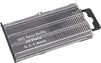 Chowcencen 20pcs / Set de la torcedura del HSS Brocas Mini Set Taladro de Mano Broca de torsión Configure el Taladro de Bricolaje 0.3-1.6mm Herramienta Diámetro