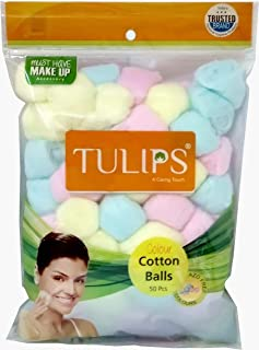 Natural Cotton Balls Cotton Swabs for Nail & Make-up Removal - 50 Cotton Balls in one pack