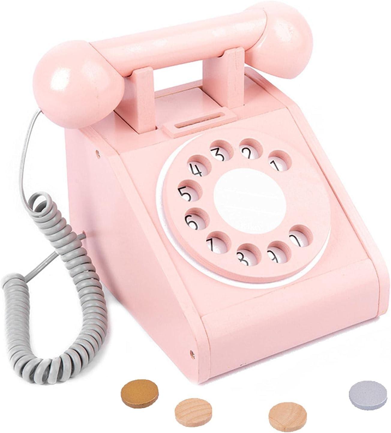 M B Kid Telephone Toy Retro Teaching Max Cheap mail order shopping 89% OFF Children's Si