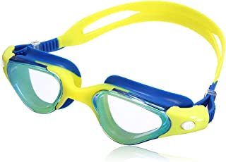 OUTERDO Swim Glass Mirrored Anti-Fog UV Protection Swimming Goggles With Silicone Soft Earplugs- Waterproof - 3 Pieces Adj...