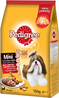 Pedigree Beef, Lamb and Vegetables Small Dog Food- 1.5kg