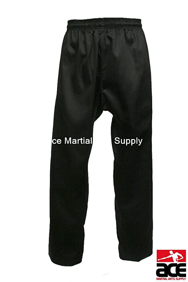 Acemas Martial Arts Karate Taekwondo Pants, Black size 6