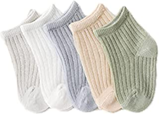 Fatu Fashion 5-Pack Baby Socks Newborn Baby Infant & Toddler Girls Boys Socks Breathable Soft Absorb Sweat Socks (Assorted...