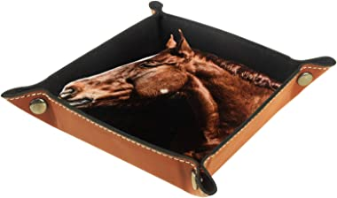 Yitian Leather Tray PU Leather Jewelry Catchall Strong Horse for Change Jewelry Key Phone Watches Dice Soft Elegance Recyclab