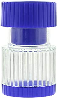 Dukal Pill Crusher. Blue Cutter Splitter Powder. Pill Container Pulverizer and Storage. 2 in 1 Tablets Container. Simple T...