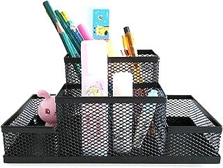 حامل قلم رصاص أسود شبكة مكعب معدن حامل مجموعة حامل مكتب ملحقات القرطاسية منظم القلم القلم لوازم المكتب التخزين