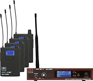 Galaxy Audio AS-1100-4 Wireless In-Ear Monitoring System with EB6 Earbuds. Freq N